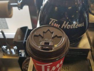 verre café Tom Hortons